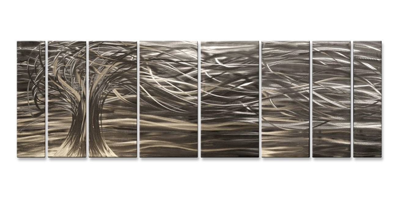 Contemporary 7 Panel Metal Wall Art Sculpturesash Carl Home In Most Popular Ash Carl Metal Wall Art (View 12 of 30)