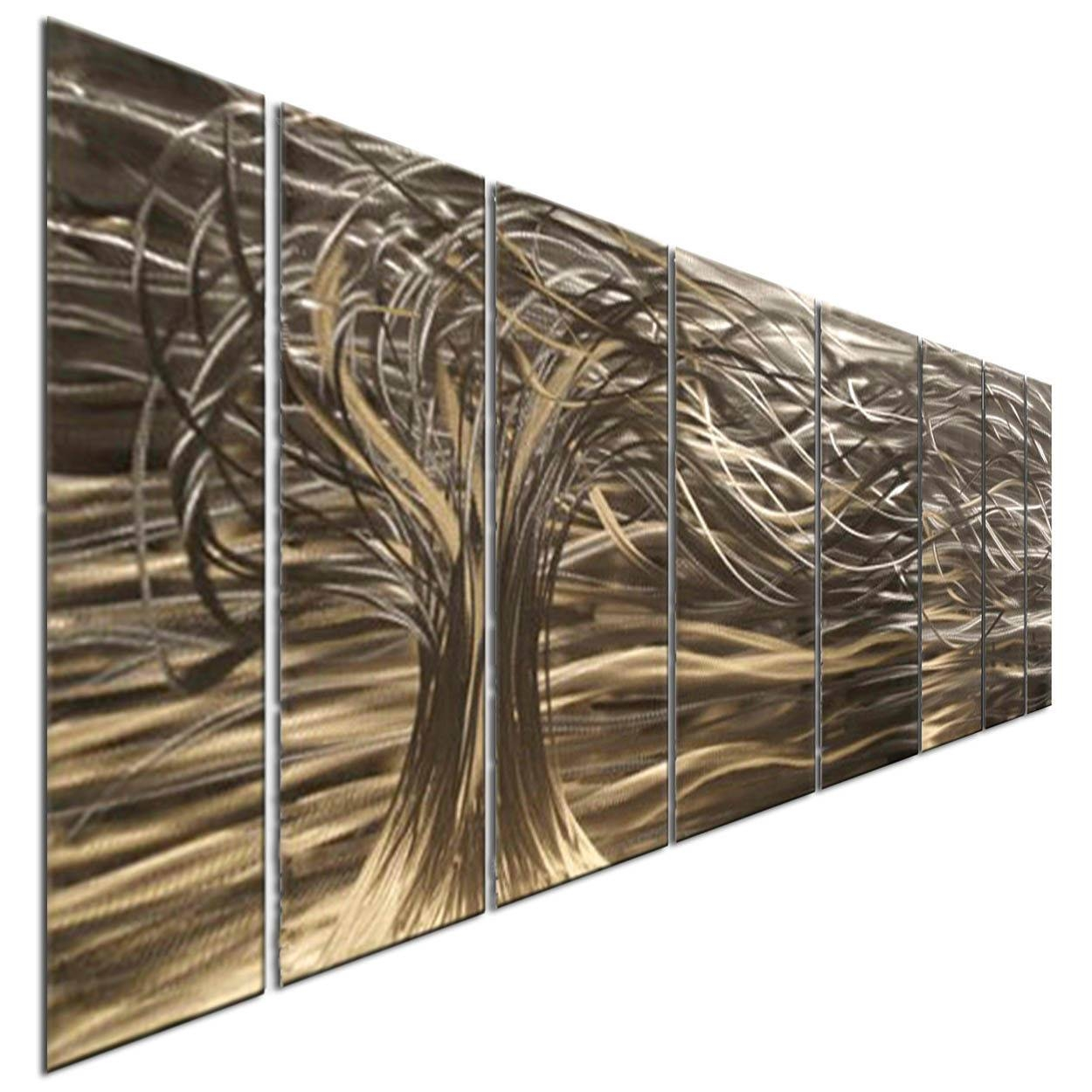 Contemporary 7 Panel Metal Wall Art Sculpturesash Carl Home Throughout Latest Ash Carl Metal Wall Art (View 3 of 30)