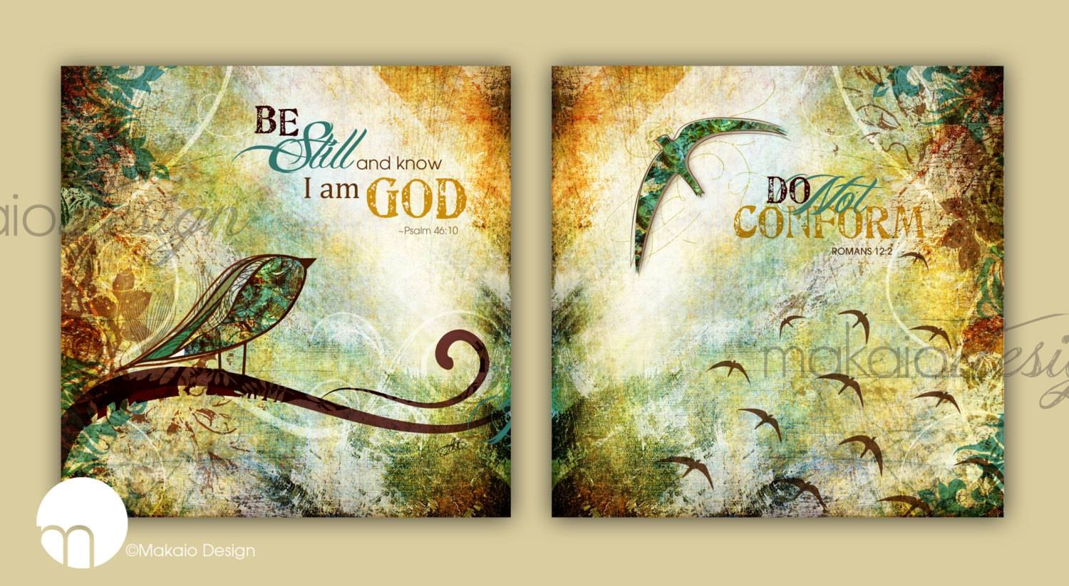 Contemporary Christian Art Scripture Set Canvas Gallery Wraps Pertaining To 2017 Scripture Canvas Wall Art (View 2 of 20)