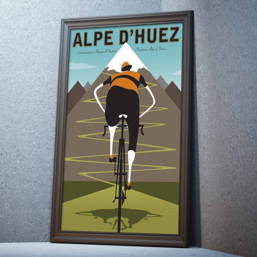 Contemporary Cycling Tour De France Alpe D' Huez Printwall Art Regarding Most Recently Released Cycling Wall Art (View 13 of 25)