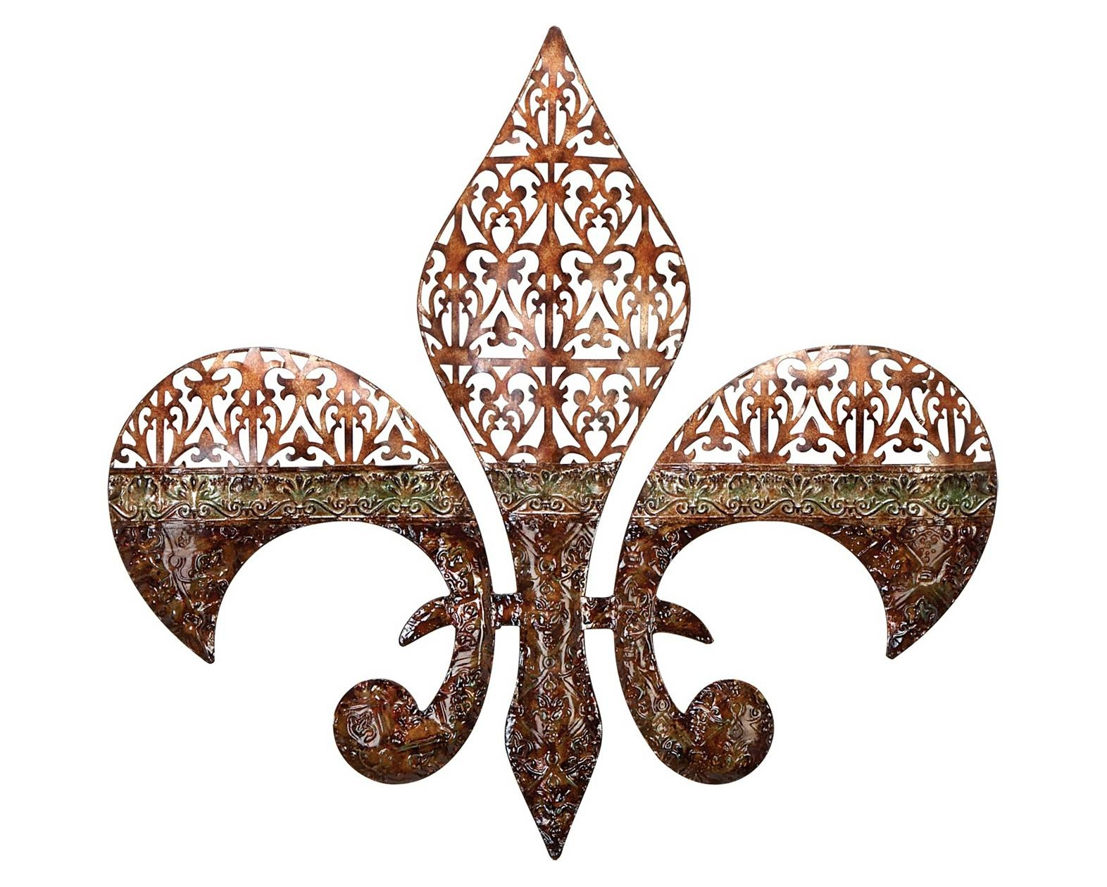 Featured Photo of Fleur De Lis Metal Wall Art