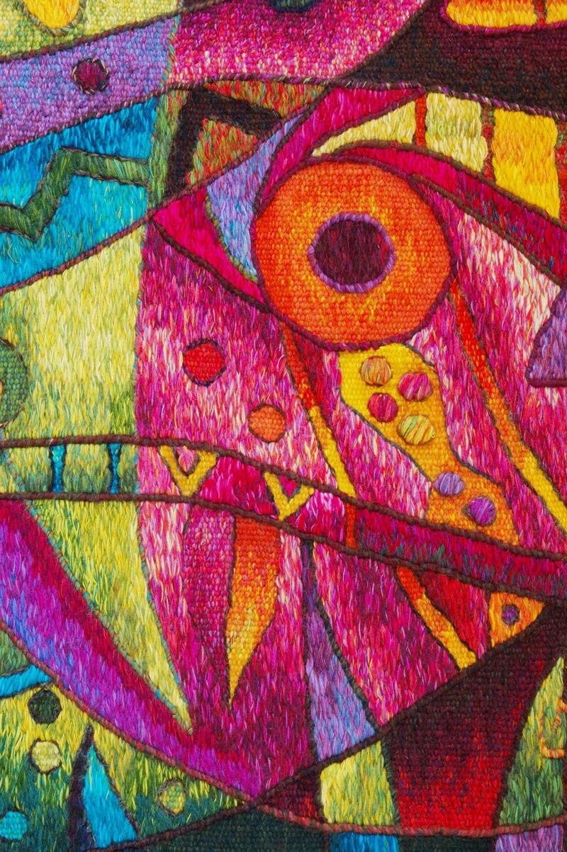 Contemporary Sea Tapestriesmaximo Laura | Peruvian Tapestry Art Regarding Newest Peruvian Wall Art (View 11 of 30)