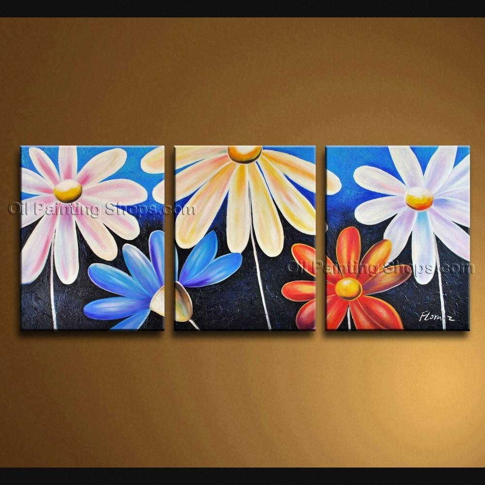 Contemporary Wall Art Floral Painting Egg Flower Paintings In Best And Newest Contemporary Wall Art (View 4 of 20)