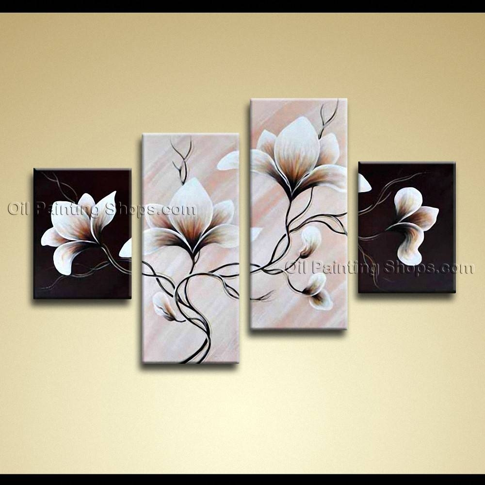 Contemporary Wall Art Floral Painting Tulip Flower On Canvas With Most Up To Date Contemporary Wall Art (View 9 of 20)