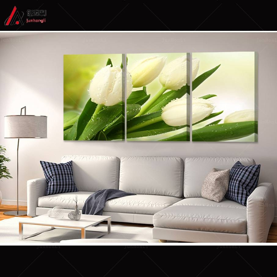 Cool 30+ Triptych Wall Art Decorating Inspiration Of Violet Storm Throughout Newest Large Triptych Wall Art (View 11 of 20)