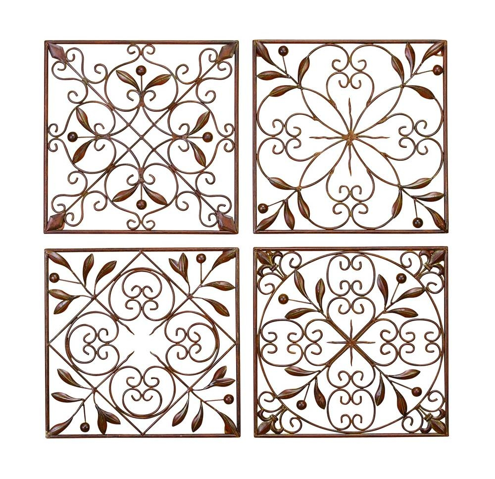 Cool Design Decor White Shabby Chic Metal Wall Design Metal Garden Inside Current Metal Gate Wall Art (View 2 of 32)