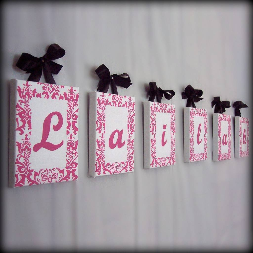 Cool Last Name Wall Decor Baby Nursery Name Wall Custom Name Wall With Best And Newest Baby Name Wall Art (View 12 of 25)