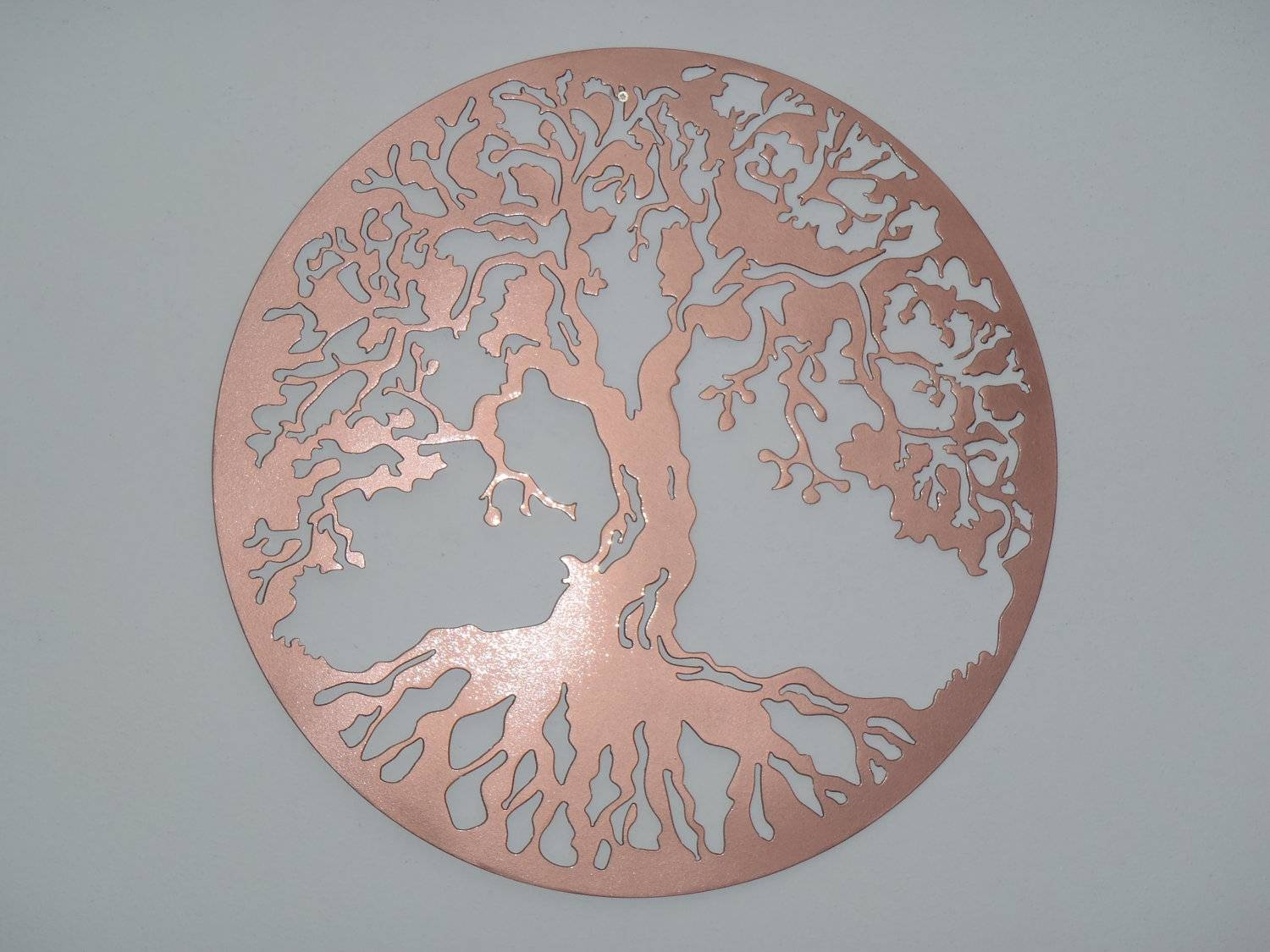 Copper Tree Wall Art | Wallartideas Inside Best And Newest Large Copper Wall Art (View 13 of 30)