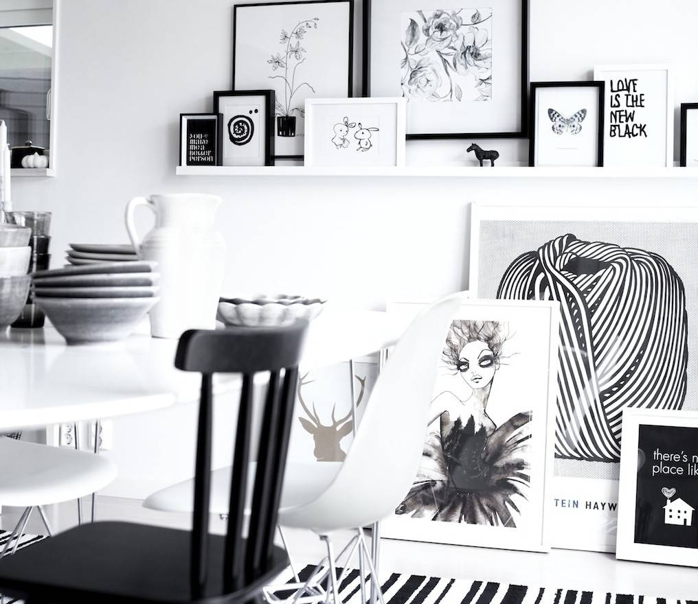 Corner Black Wall Art Square Framed Shoes Printed Gloss Black Throughout Latest Black And White Framed Wall Art (View 6 of 20)