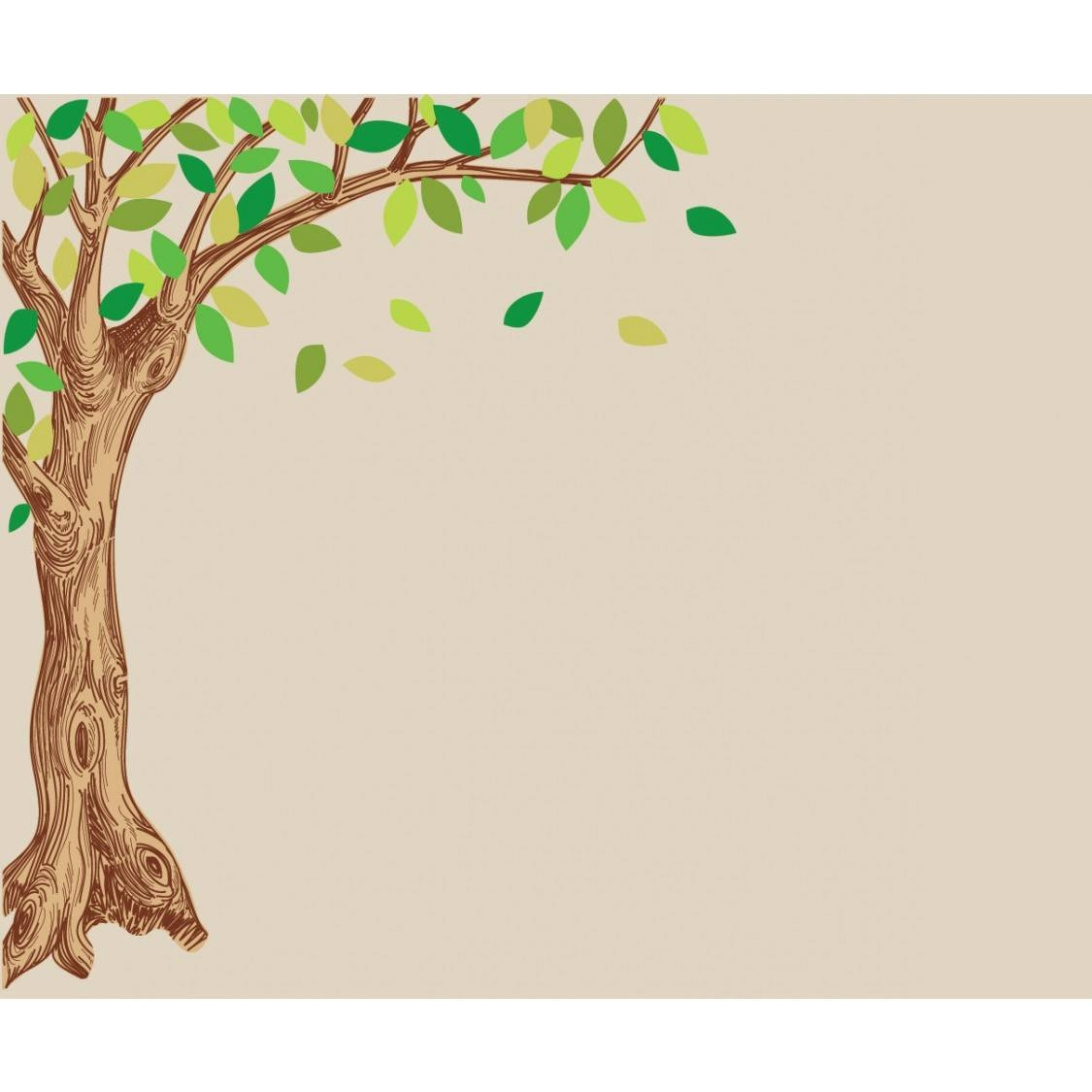 Corner Oak Large Tree Decal For Children For Most Recent Oak Tree Wall Art (View 3 of 30)