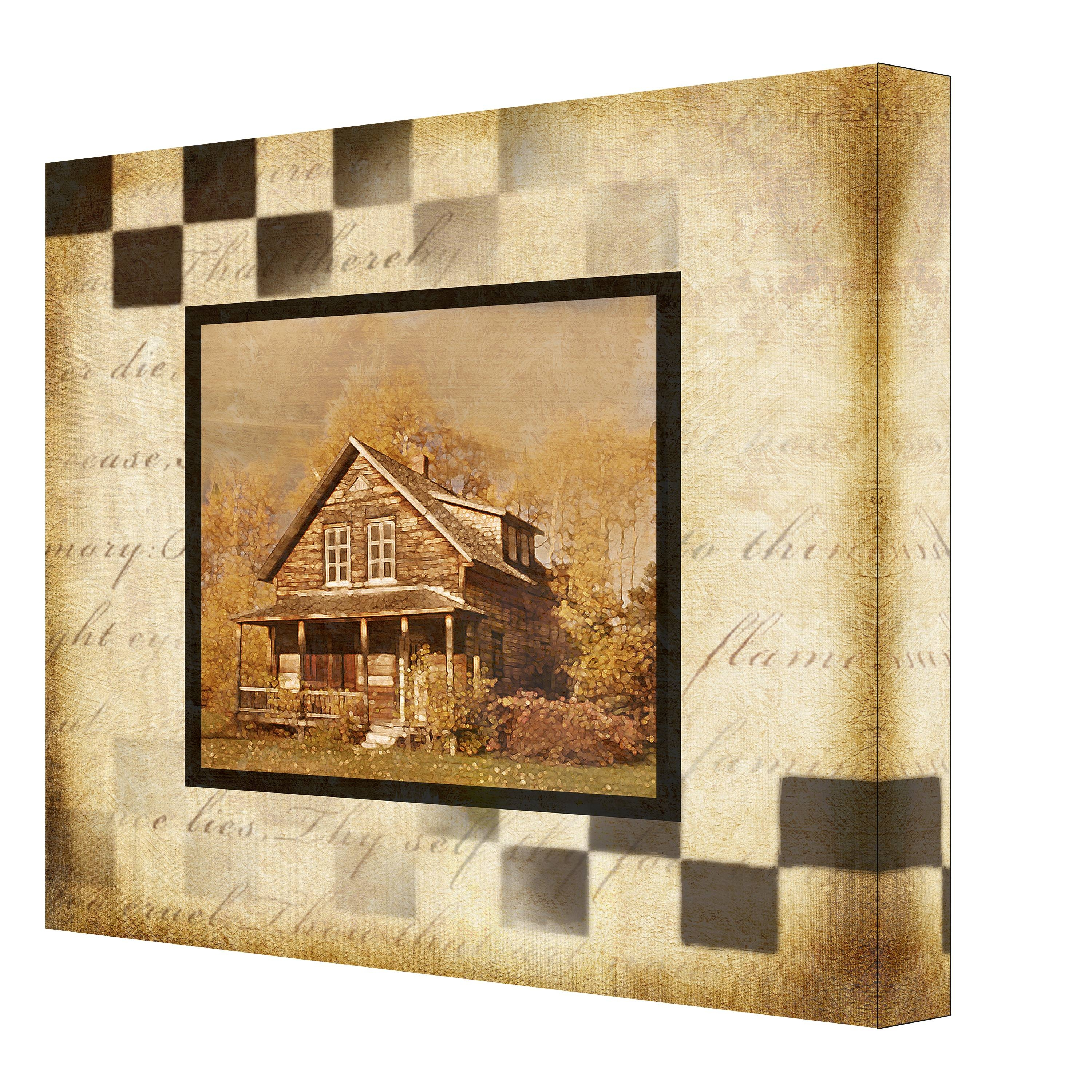 Cottage Memories Canvas Wall Art – Ptmimages With Current Multi Canvas Wall Art (View 6 of 20)