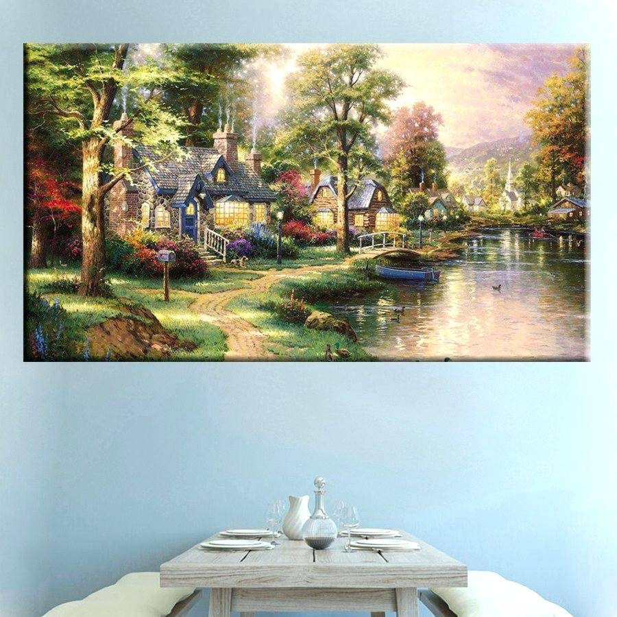 Country House Wall Art Room Decoration Famous Reproduction Inside Most Recent French Country Wall Art Prints (View 6 of 20)