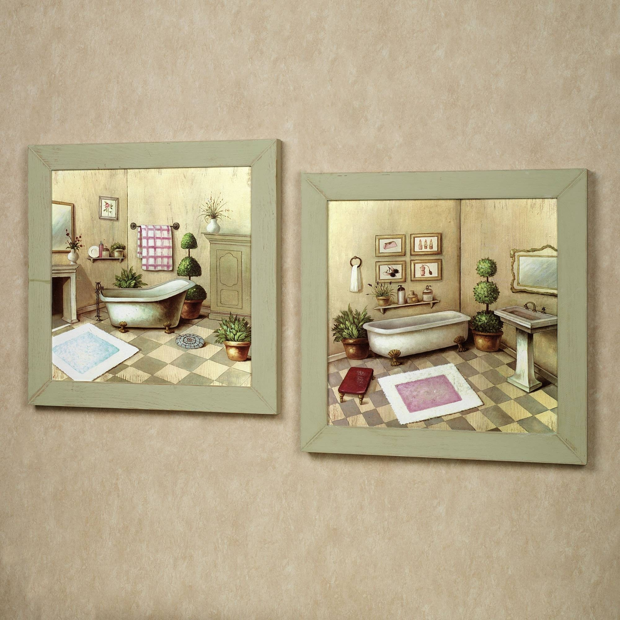 Country Style Bathroom Wall Decor • Bathroom Decor Intended For Recent Country Style Wall Art (View 25 of 30)