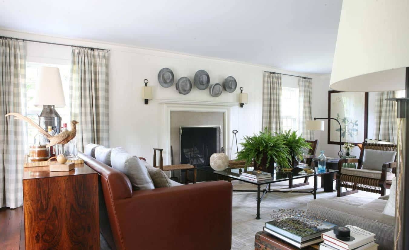 Country Style Living Rooms With Ottoman As Coffee Table And In 2017 Country Style Wall Art (View 28 of 30)
