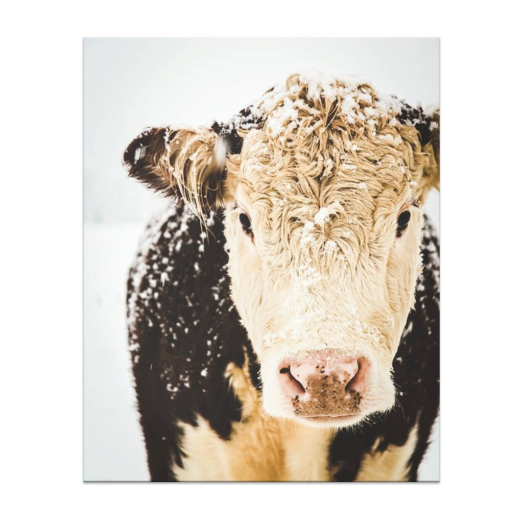 Cow Print Cow Art French Country Decor Farmhouse Print For Current French Country Wall Art Prints (View 7 of 20)