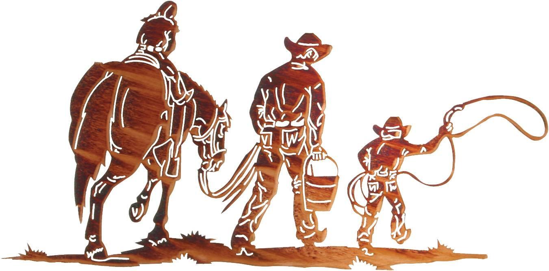 Cowboy Metal Wall Art, Cowboy Wall Hangings, Cowboys And Horses For Recent Lazart Metal Wall Art (View 22 of 25)