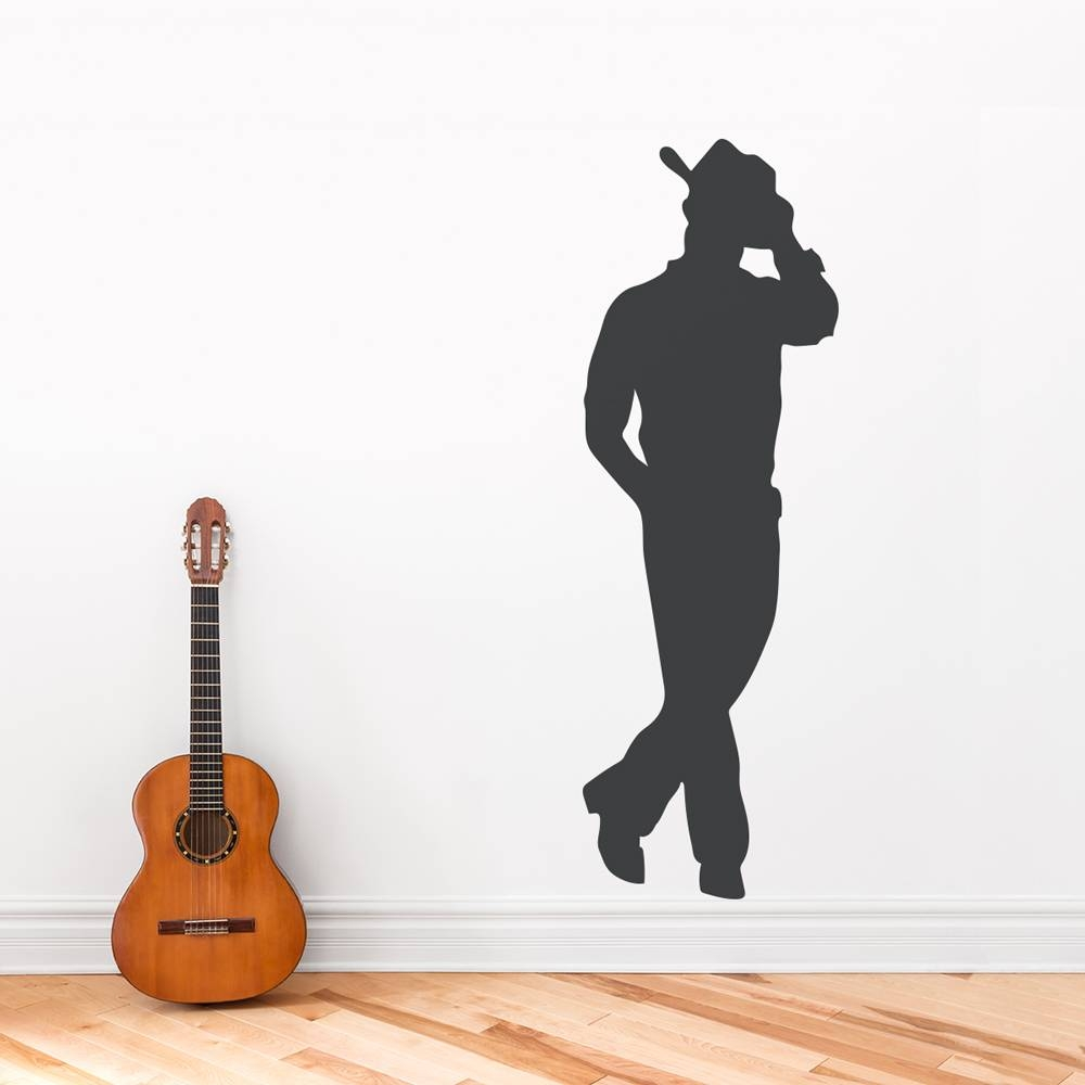 Cowboy Wall Art Decal With Regard To Most Recently Released Music Theme Wall Art (View 7 of 30)