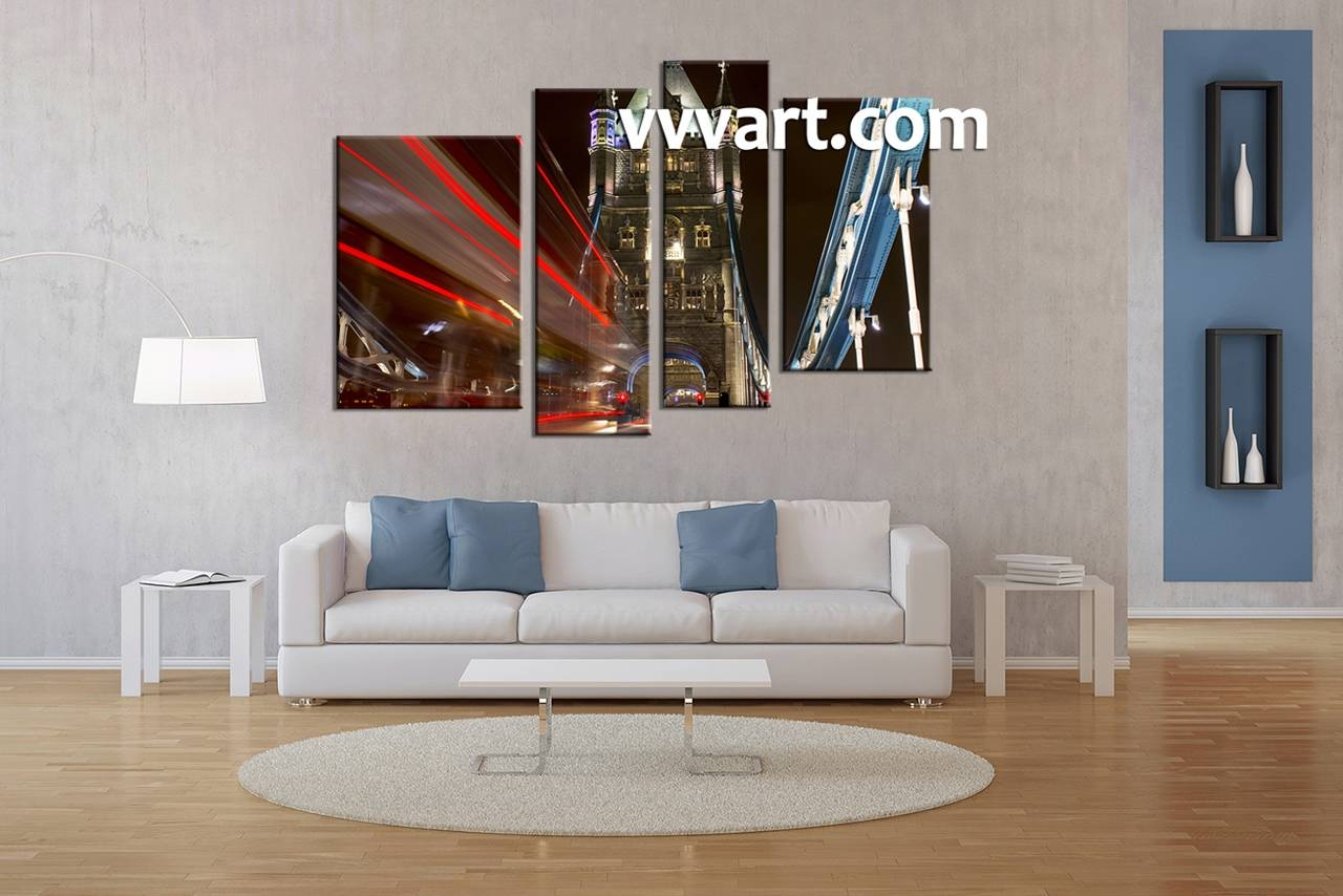 Cozy 4 Piece Wall Art Home Daccor Piece Canvas 4 Piece Abstract Throughout Most Current 4 Piece Wall Art Sets (View 15 of 20)