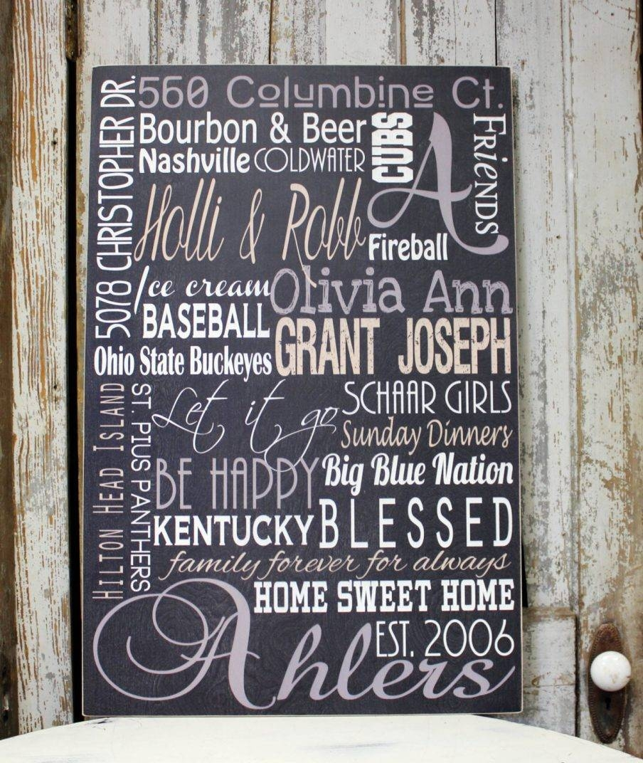 Cozy Design Ideas Last Name Wall Art Trendy Wall Design Decor With Most Popular Last Name Wall Art (View 9 of 25)