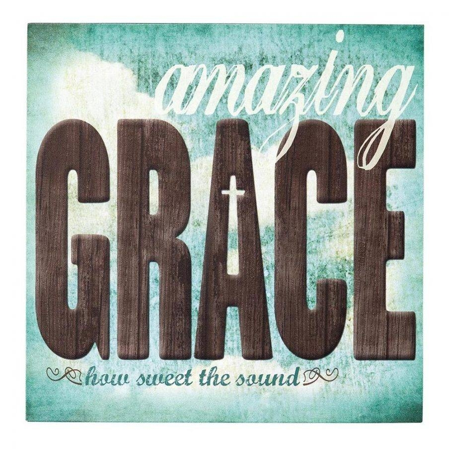 Cozy Wall Decor Amazing Grace Wall Art Amazing Grace Wood Wall Art In 2017 Grace Wall Art (View 16 of 25)