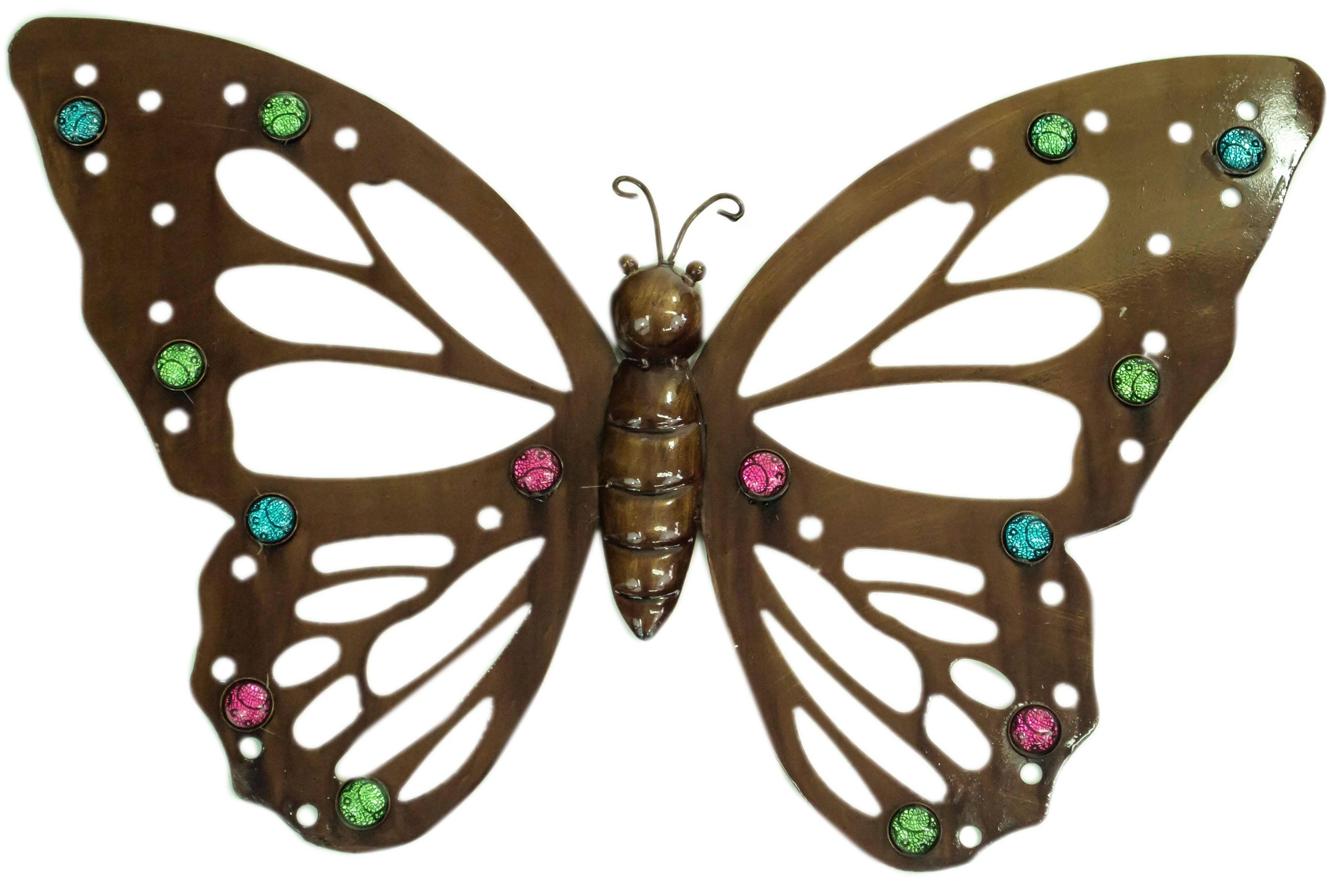 Cream Metal Butterfly Wall Art | Wallartideas Throughout 2018 Large Metal Butterfly Wall Art (View 11 of 25)