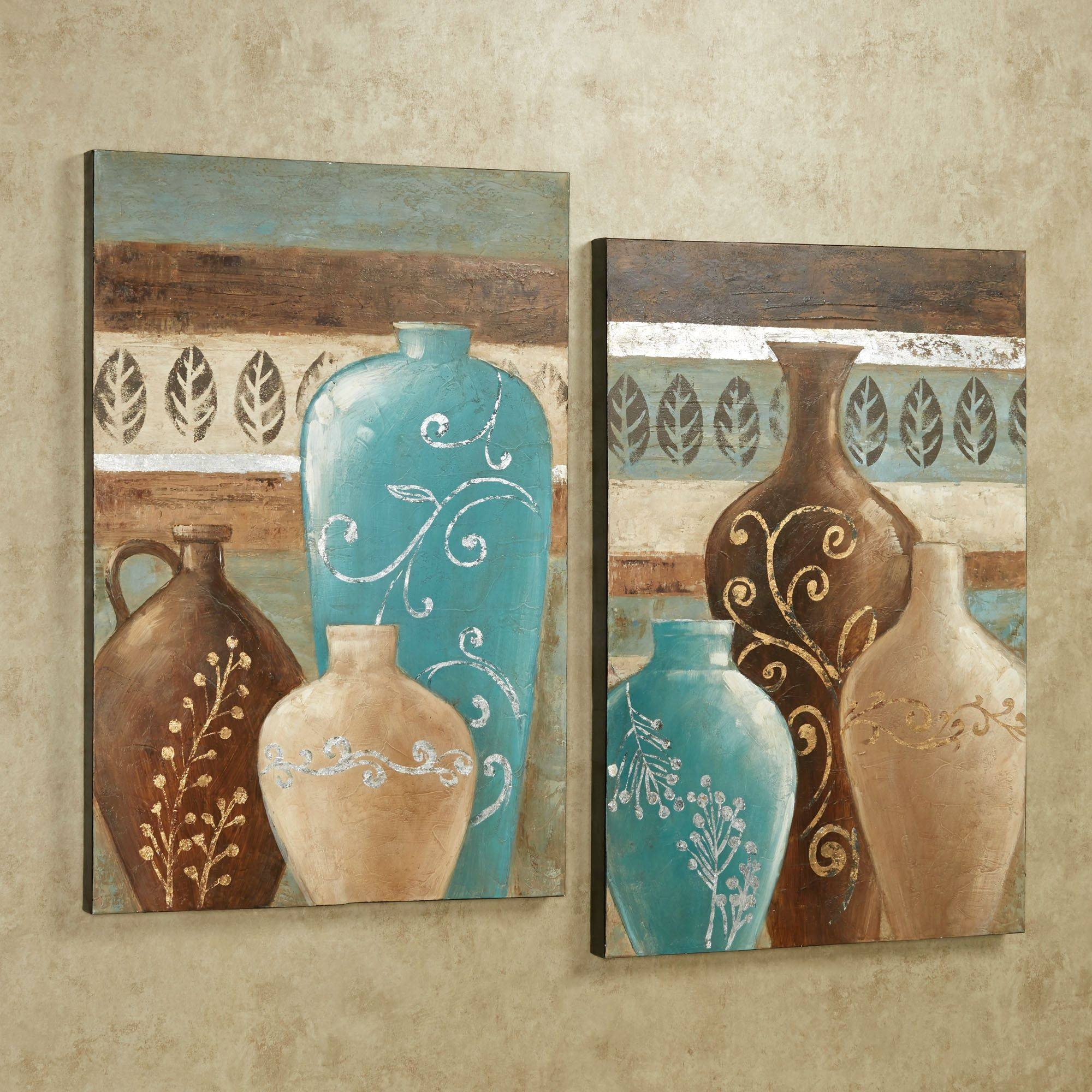 Cream Wall Accents Wayfair Abstract D%c3%a3%c2%a9Cor ~ Loversiq Intended For Most Up To Date Blue And Cream Wall Art (View 7 of 20)