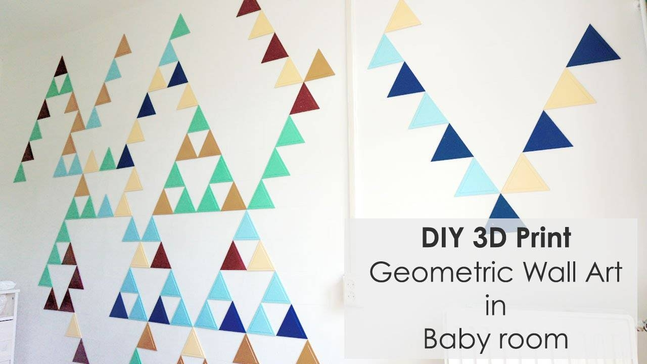 Creating Geometric Wall Art With 3D Triangles – Youtube With Most Up To Date 3D Triangle Wall Art (View 11 of 20)