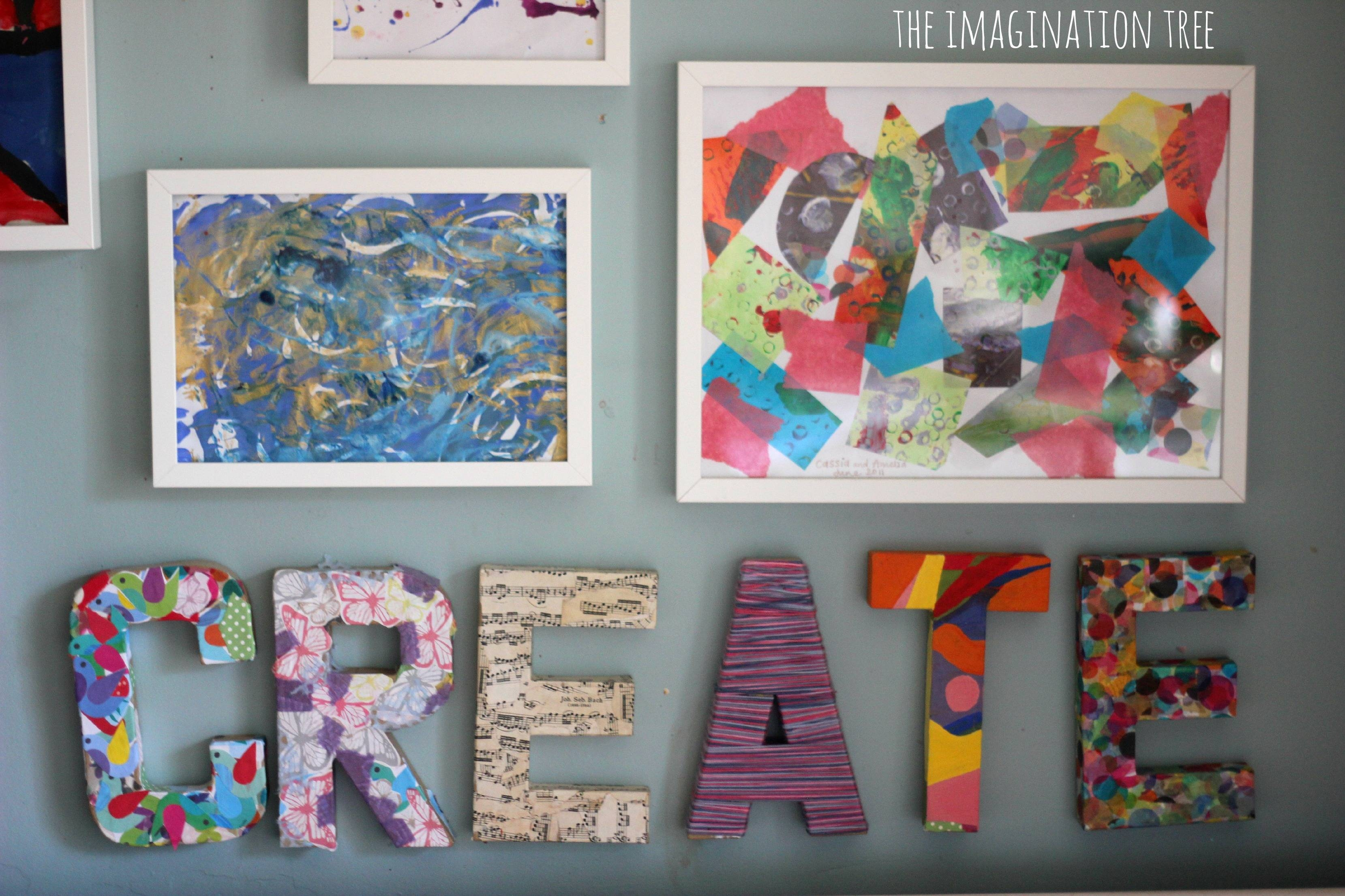 Creative Arts Area And Gallery For Kids – The Imagination Tree Within 2018 Preschool Wall Art (Gallery 11 of 30)