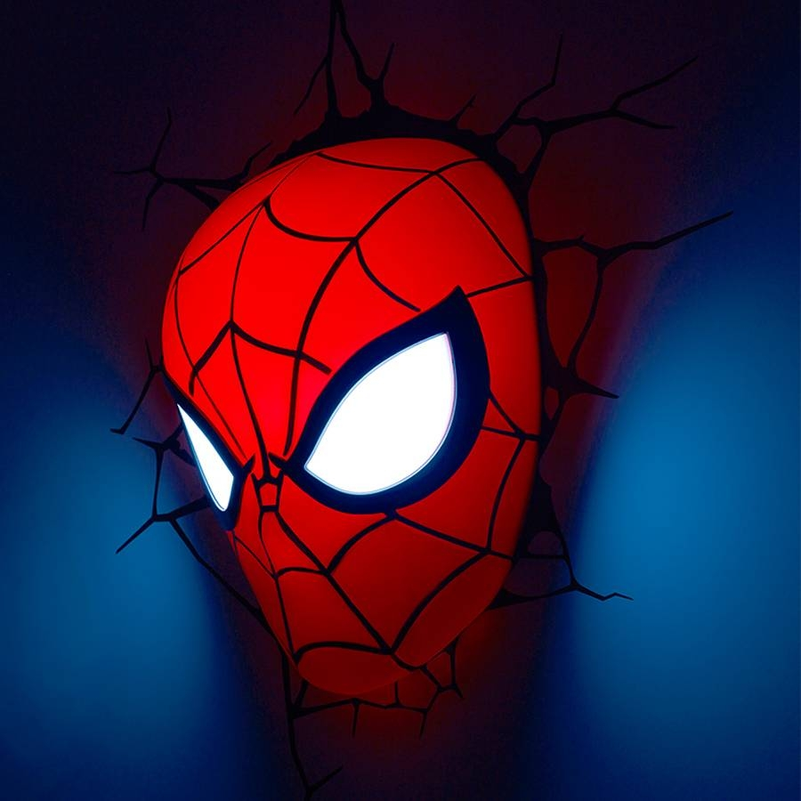Creative Avengers Alliance Spiderman Shape 3d Night Lights Led Inside Current 3d Wall Art Night Light Spiderman Hand (View 7 of 20)