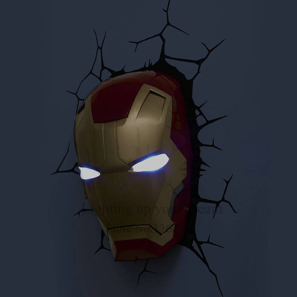 Creative Avengers Iron Man Hand Night Light 3D Wall Lamp Amazing Within Most Recently Released 3D Wall Art Iron Man Night Light (View 8 of 20)