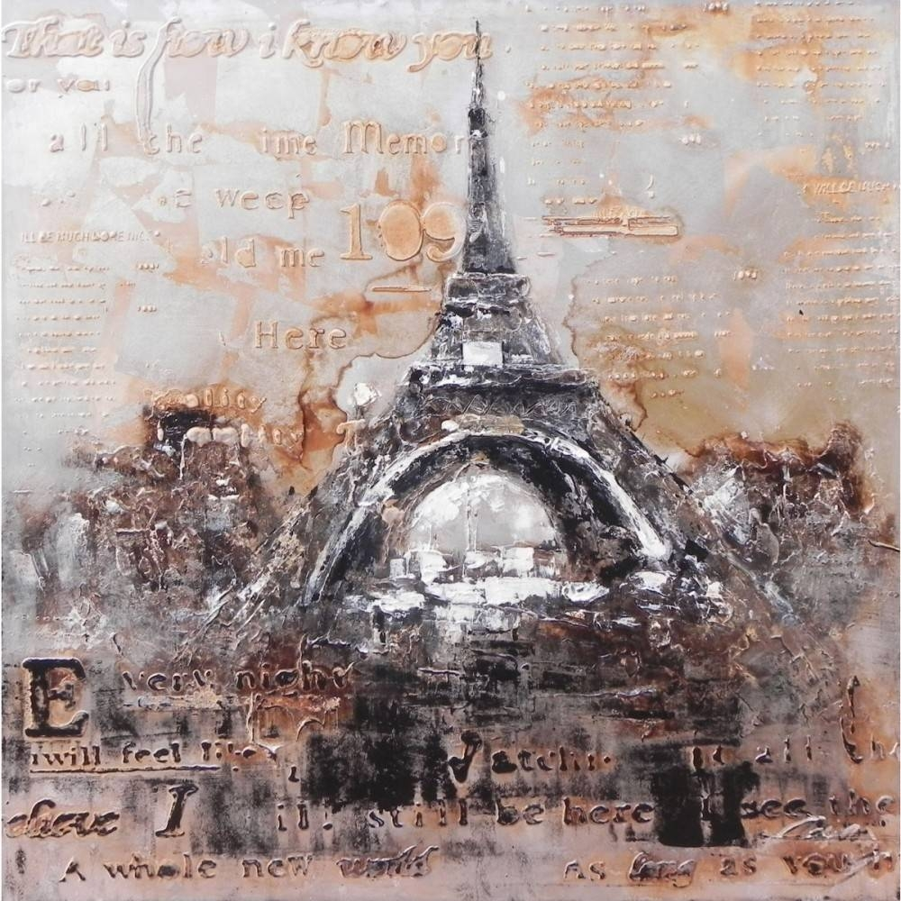 "Creative Furniture"" Vintage Eiffel Tower Wall For Best And Newest Eiffel Tower Wall Art (View 9 of 20)"