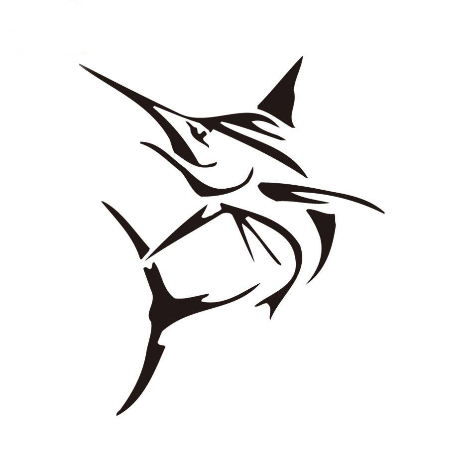 Creative Tribal Marlin Fish Bone Wall Sticker Small Computer Decor With Best And Newest Fish Bone Wall Art (View 8 of 20)