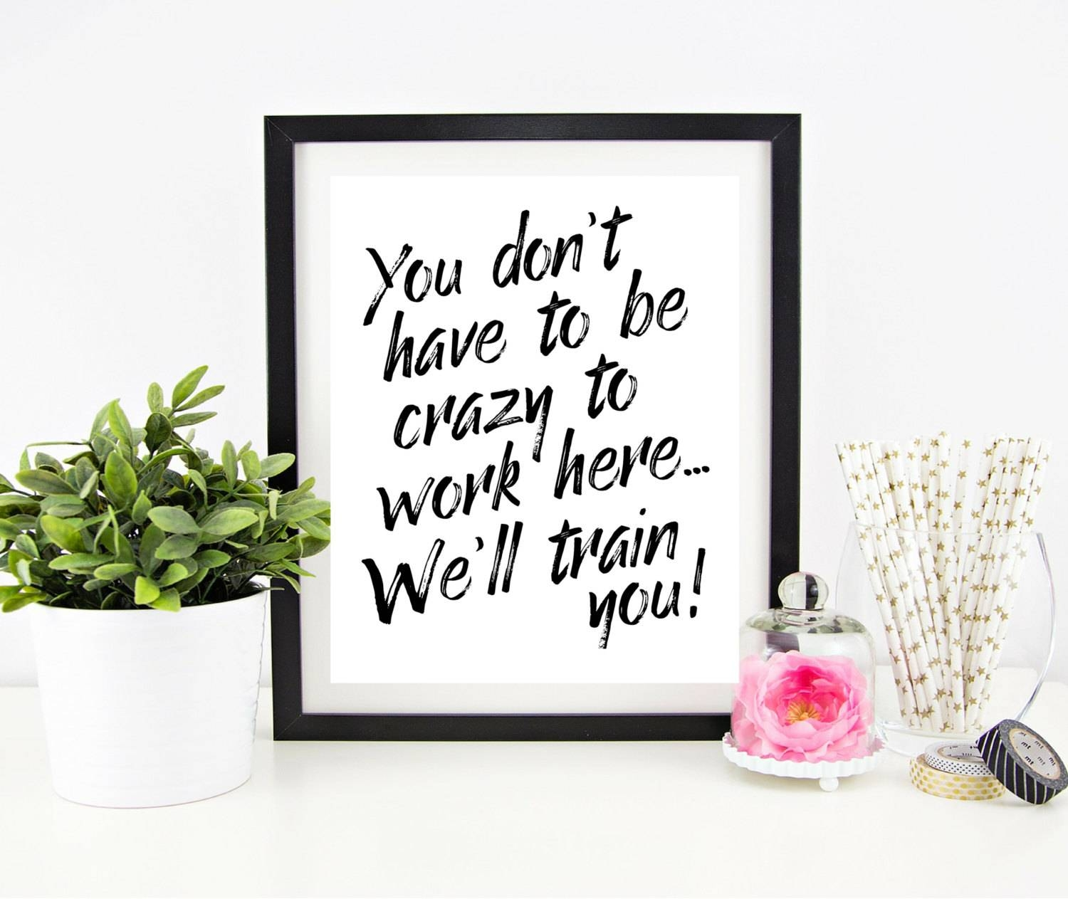 Cubicle Decor Printable Office Wall Art Funny Office Signs Intended For Most Popular Cubicle Wall Art (View 2 of 12)
