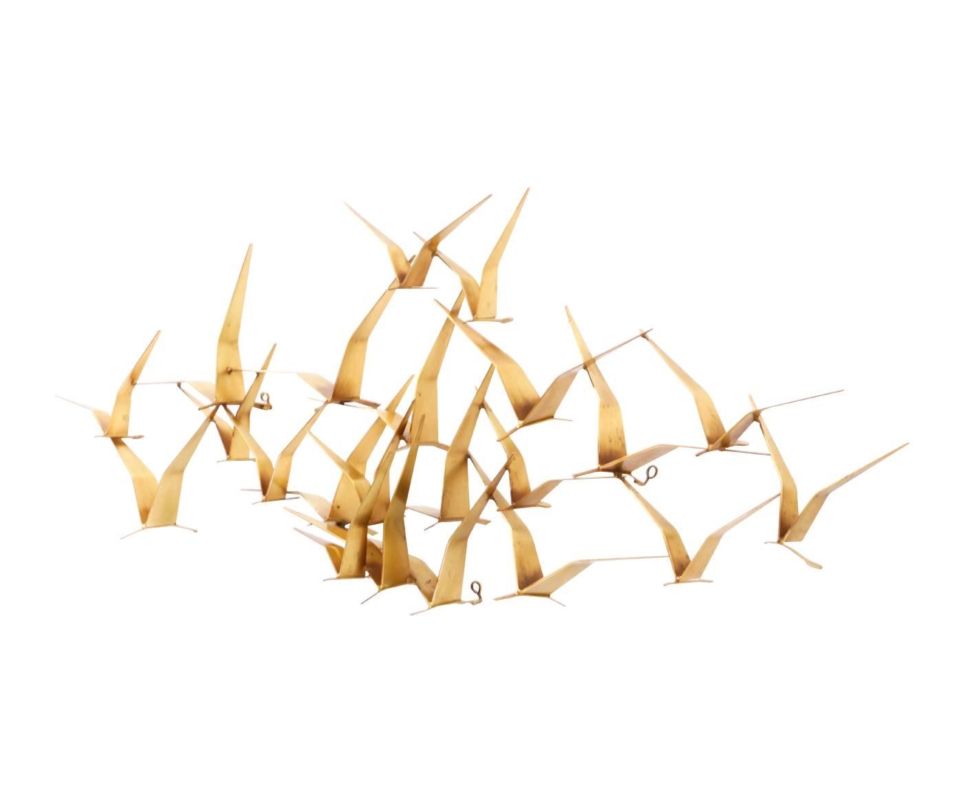 """Curtis Jere """"Birds In Flight"""" Wall Art Sculpture For Artisan House Regarding 2018 Flock Of Birds Wall Art (View 21 of 25)"""