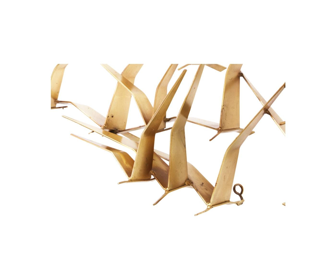 "Curtis Jere Brass ""Flock Of Birds"" Wall Art Sculpture For Artisan In Current Flock Of Birds Wall Art (View 6 of 25)"