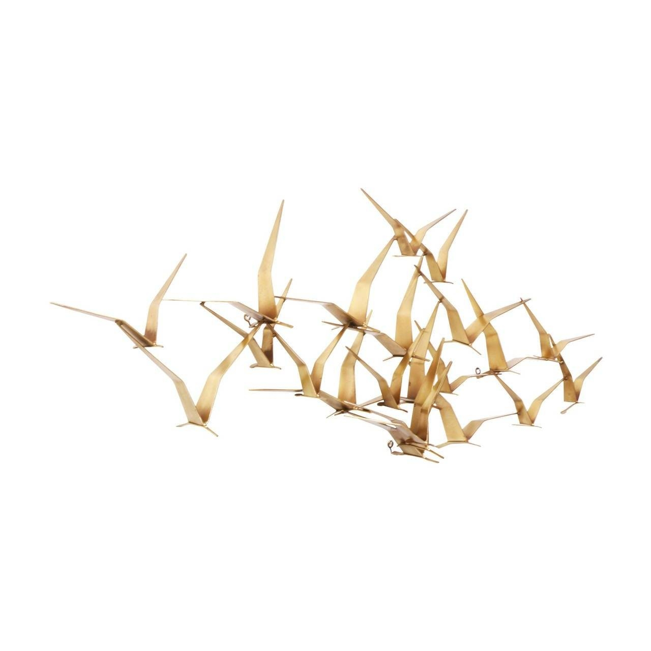 "Curtis Jere Brass ""flock Of Birds"" Wall Art Sculpture For Artisan Within Recent Flock Of Birds Wall Art (Gallery 6 of 25)"