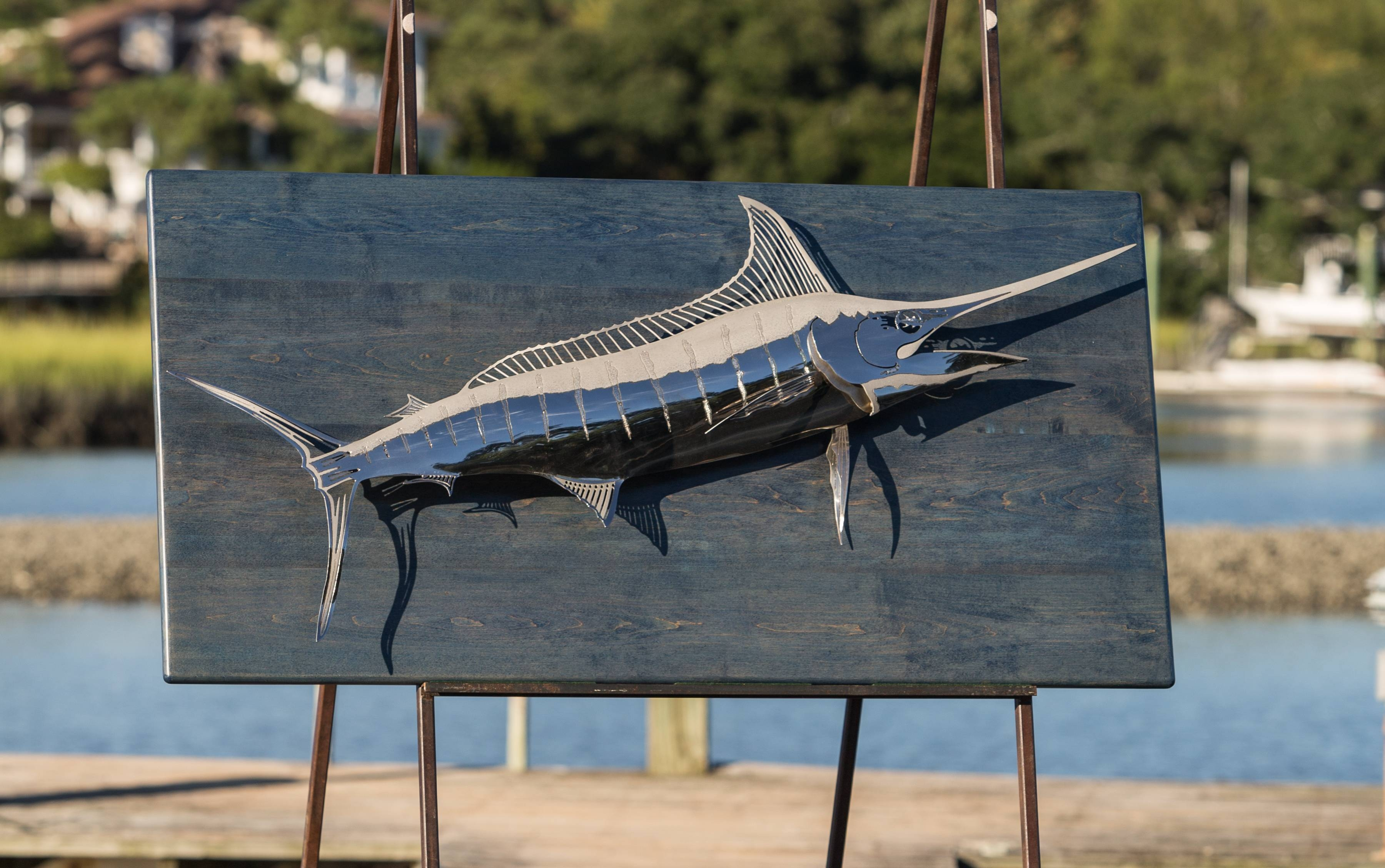Custom Artwork, Sculptures And Furniture Gallery In Most Up To Date Stainless Steel Fish Wall Art (View 7 of 17)