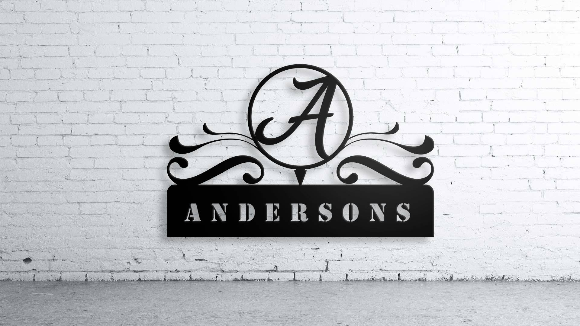 Custom Family Name, Wall Art,custom Sign, Family Name, Aluminum Pertaining To 2017 Last Name Wall Art (View 12 of 25)