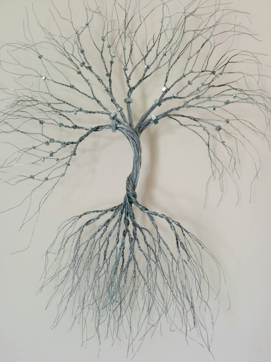 Custom Made Wire Wall Art Tree Wire Art Metal Sculpture Home In Newest Tree Sculpture Wall Art (View 2 of 20)