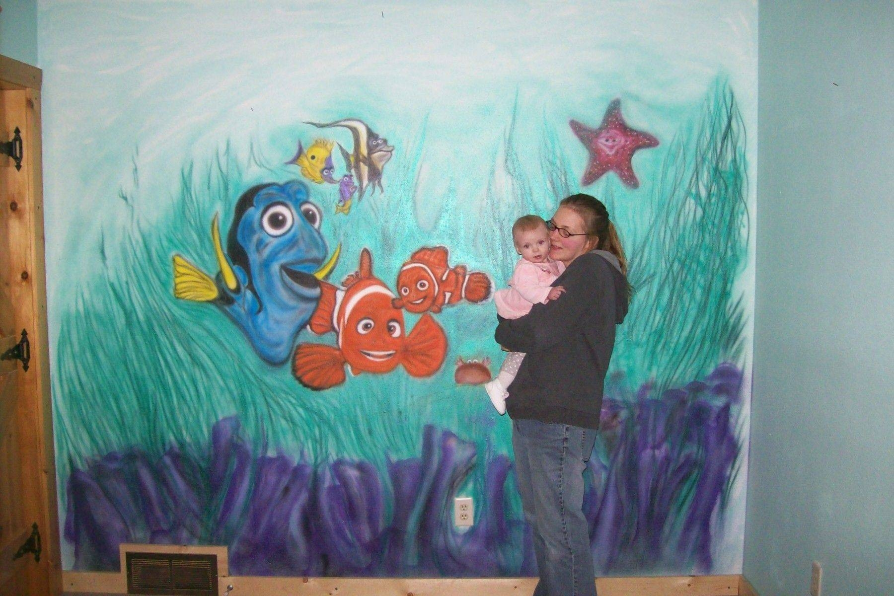 Custom Nemo Airbrushed Wall Muraldrew's Up North | Custommade With Regard To 2017 Airbrush Wall Art (View 6 of 20)