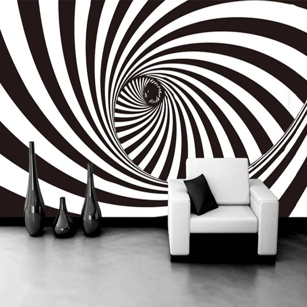 Custom Photo Wallpaper Modern 3D Abstract Living Room Wallpaper 3D With Regard To 2018 Zebra 3D Wall Art (View 8 of 20)