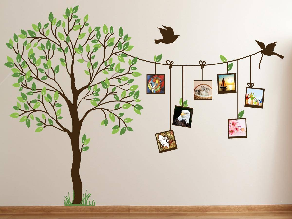 Cute family tree wall decal paint for bedrooms family tree wall intended for 2017 painted