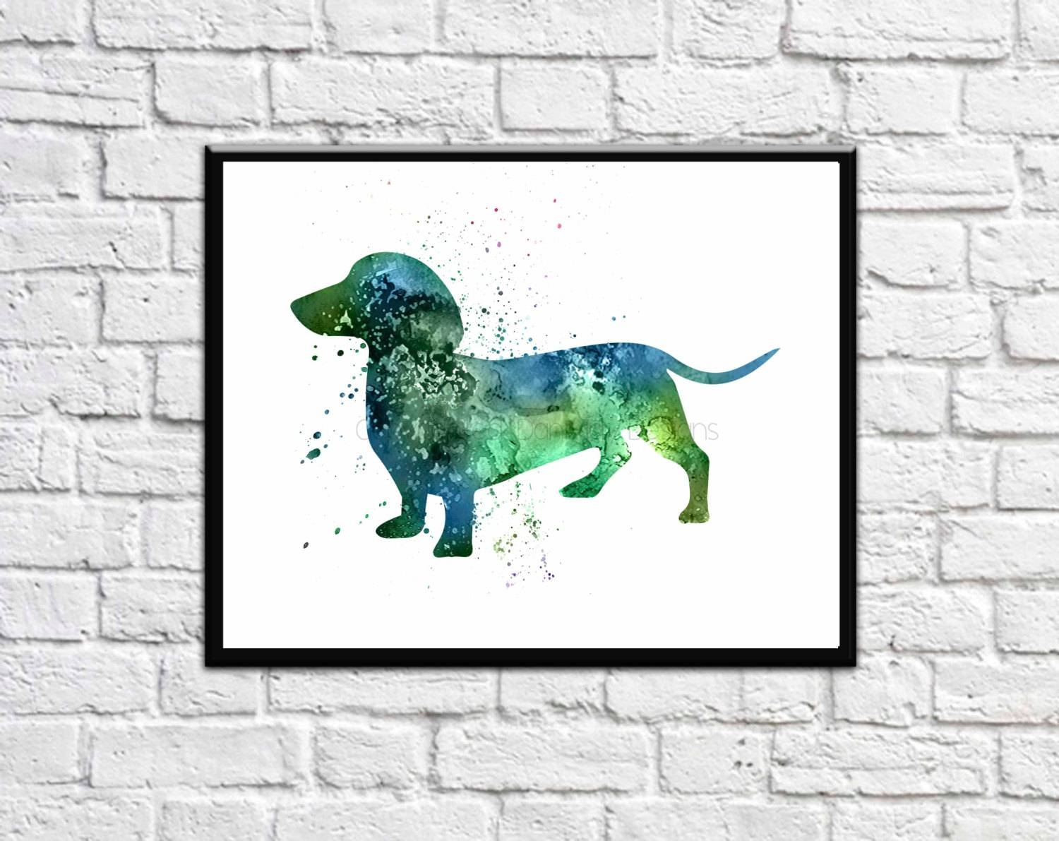 Dachshund Art Dachshund Gift Dachshund Wall Art Dachshund In Most Up To Date Dachshund Wall Art (View 6 of 22)
