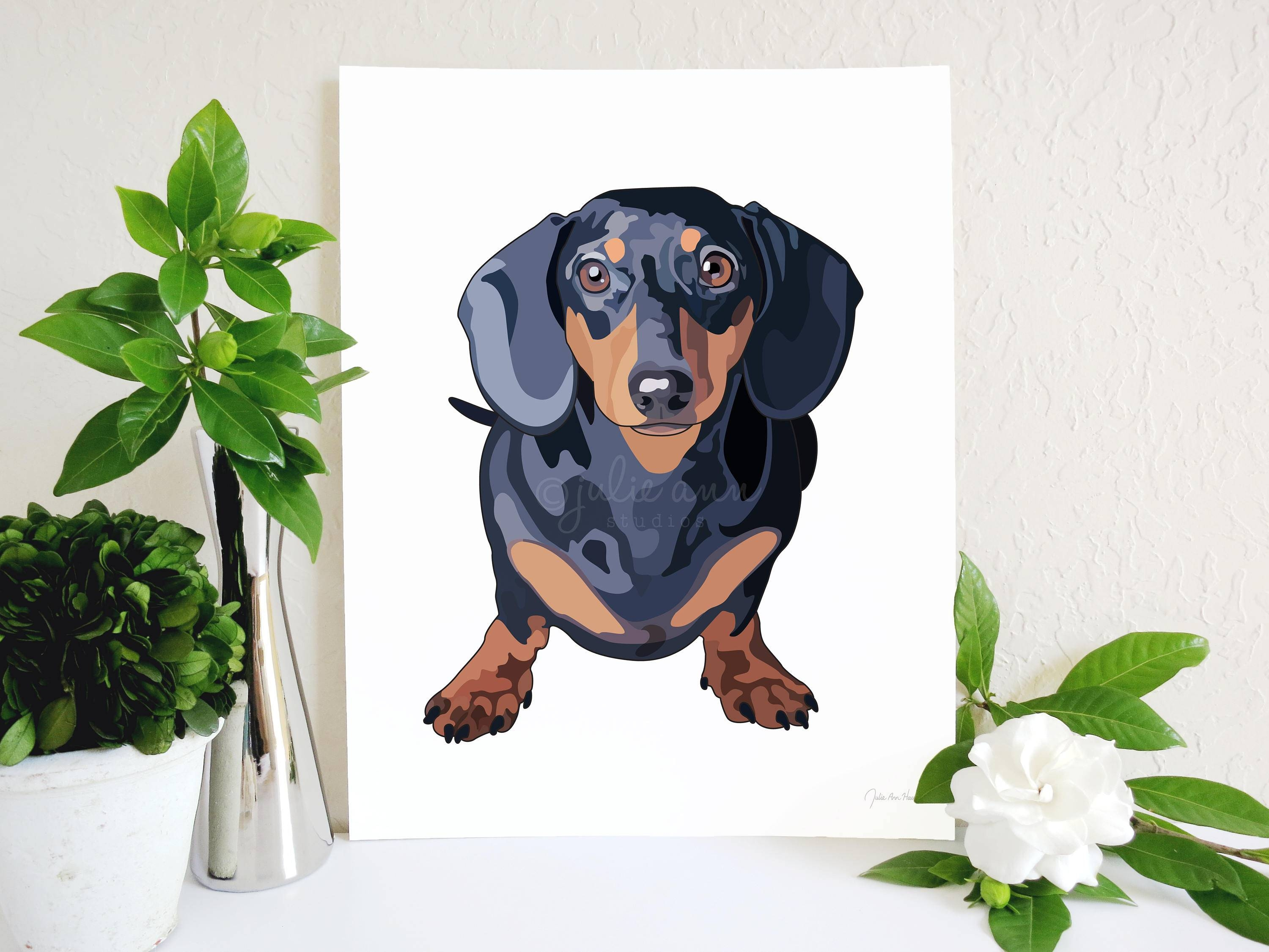 Dachshund Art Print Doxie Art Dachshund Decor Doxie Wall Regarding Newest Dachshund Wall Art (View 7 of 22)