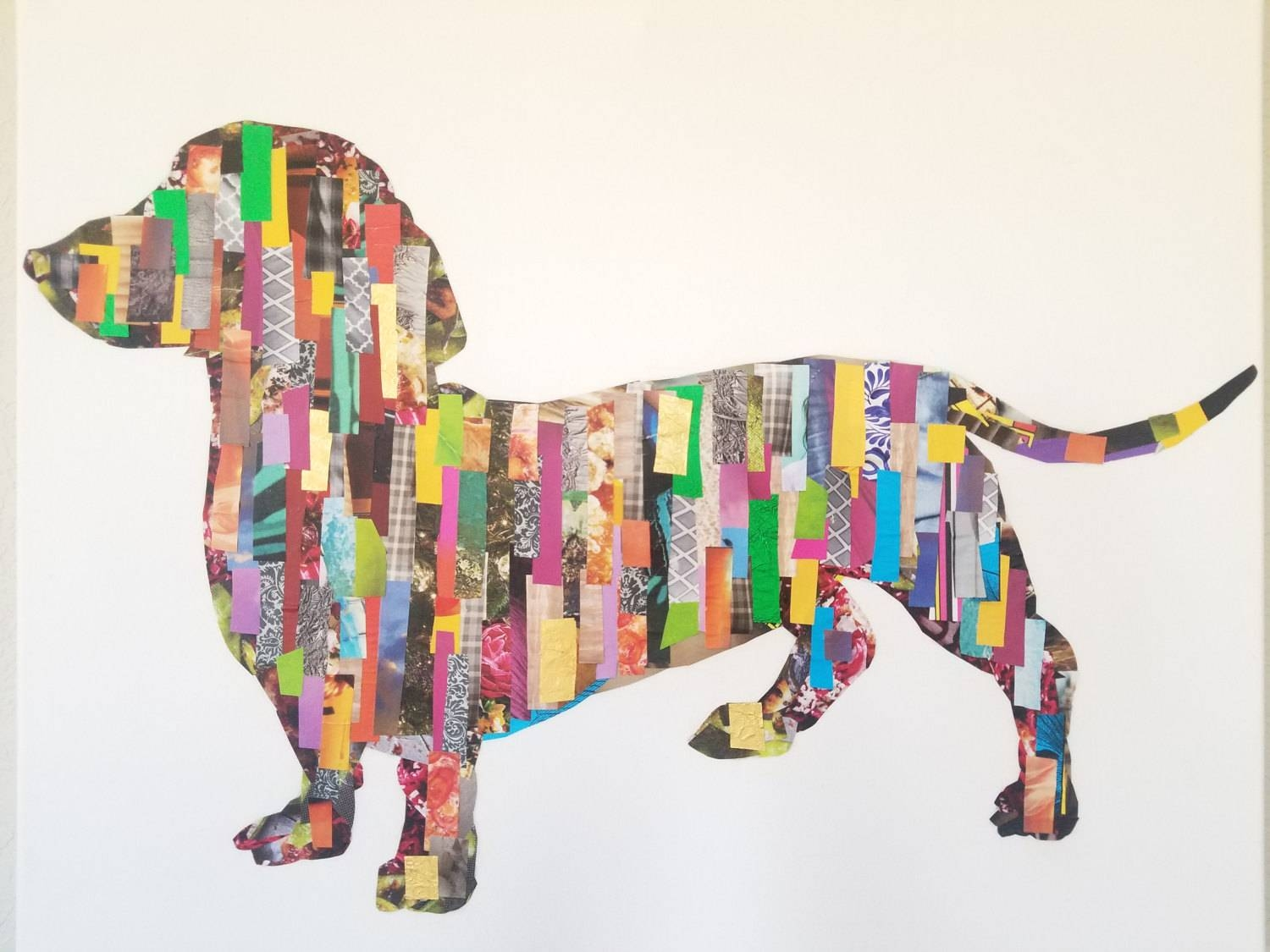 Dachshund Decoupage Wall Art Pertaining To Most Recently Released Decoupage Wall Art (View 6 of 30)