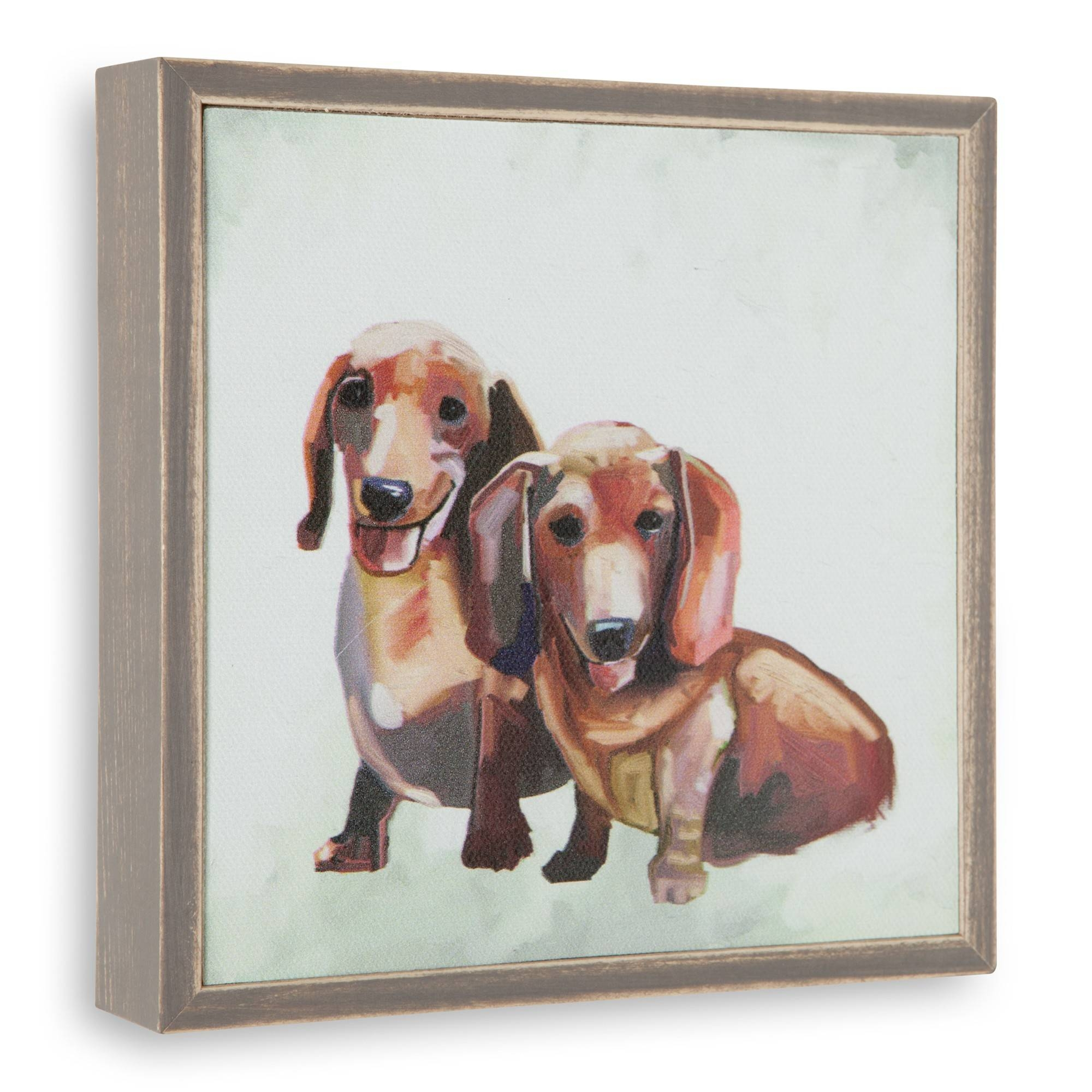 Dachshund Duo Mini Framed Canvas Wall Art | Sturbridge Yankee Workshop Throughout 2017 Dachshund Wall Art (View 8 of 22)