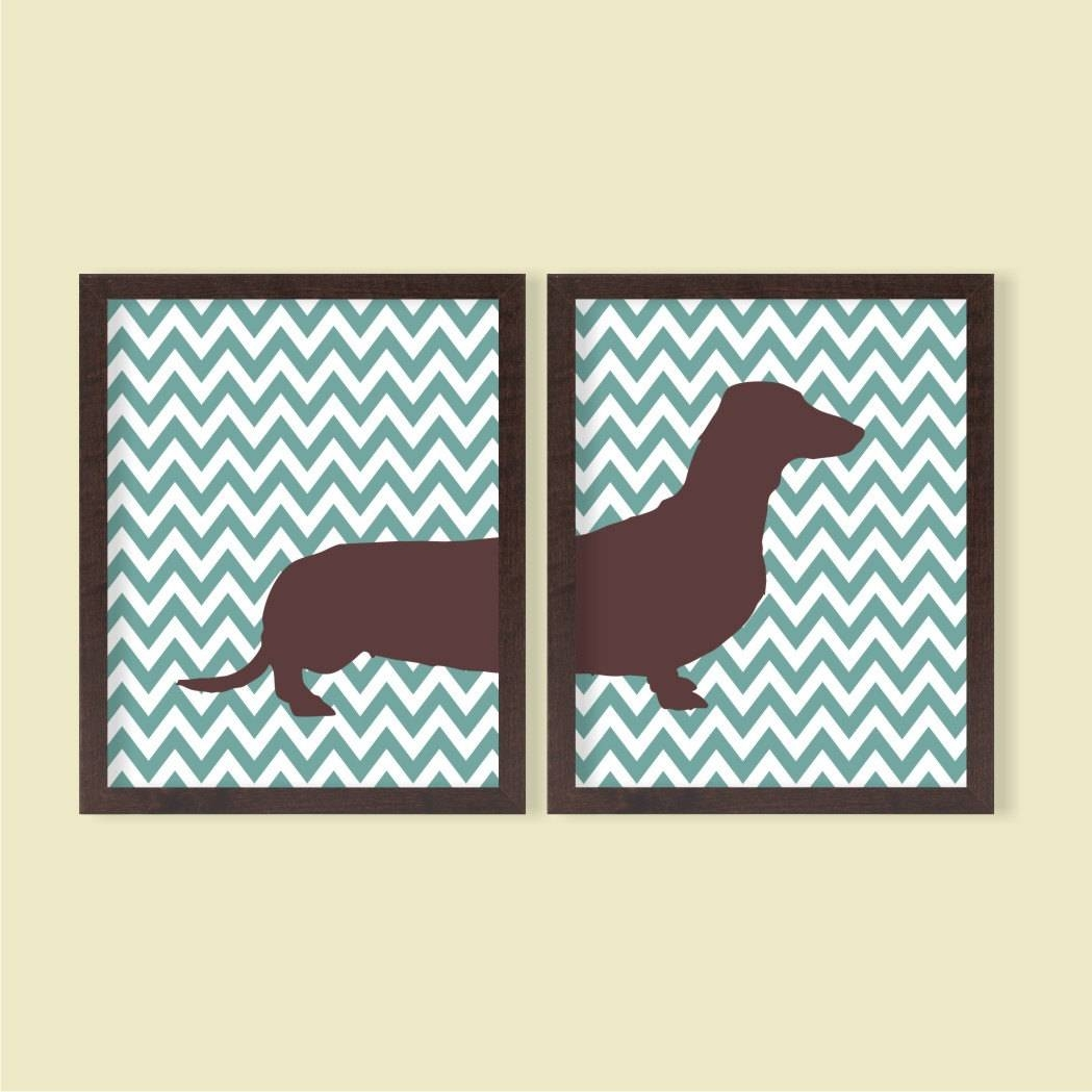 Dachshund Instant Download Printable Set Of 2 8x10 In Most Recent Dachshund Wall Art (View 2 of 22)