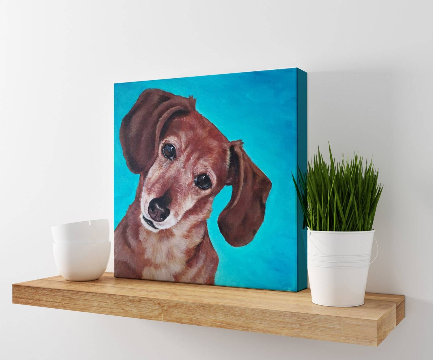 Dachshund Print Dog Art Weiner Dog Art Doxie Painting For Most Popular Dachshund Wall Art (View 11 of 22)