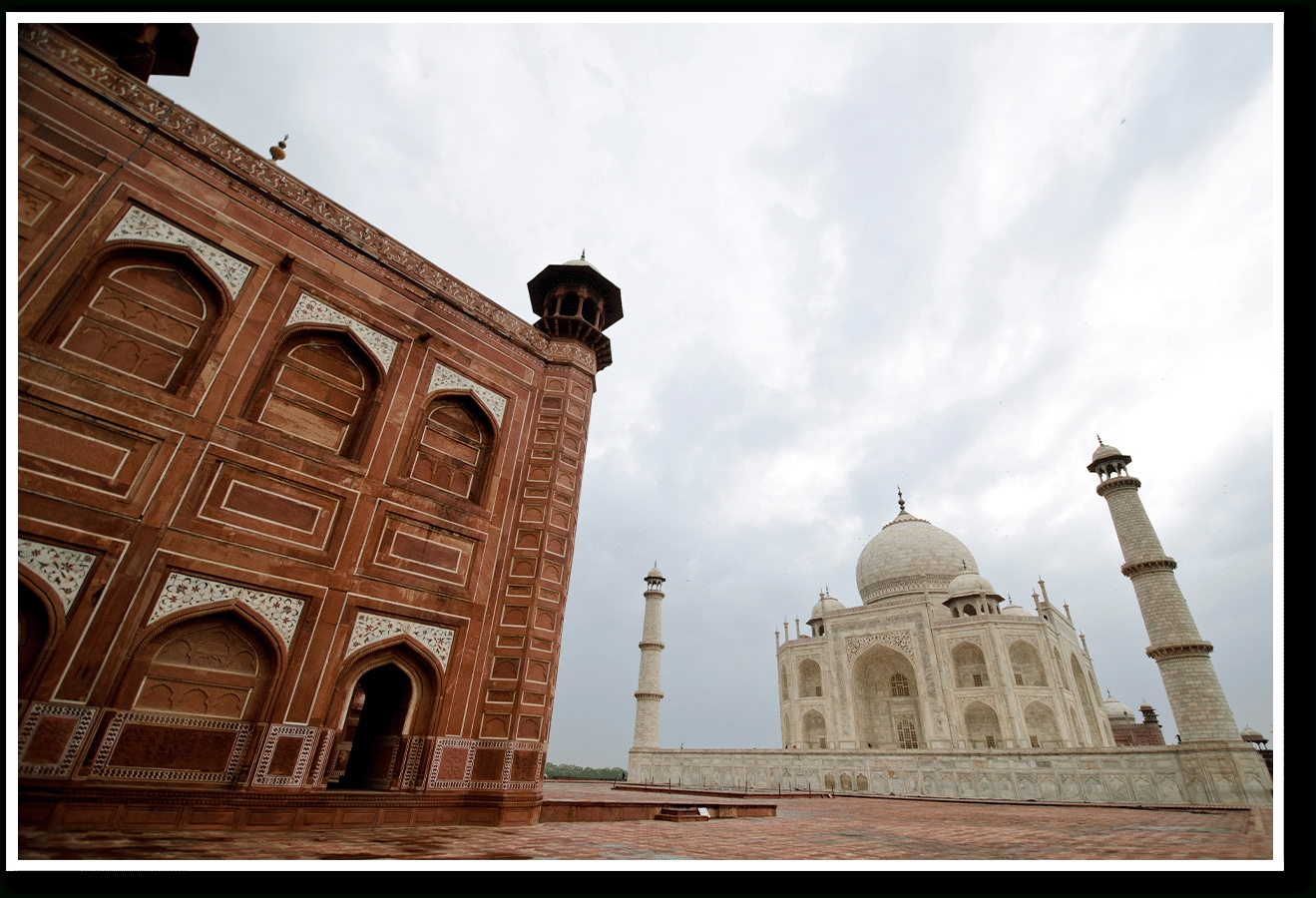 Dailyobjects Taj Mahal Perspective Small Wall Art Print Small Pertaining To 2017 Taj Mahal Wall Art (View 11 of 25)