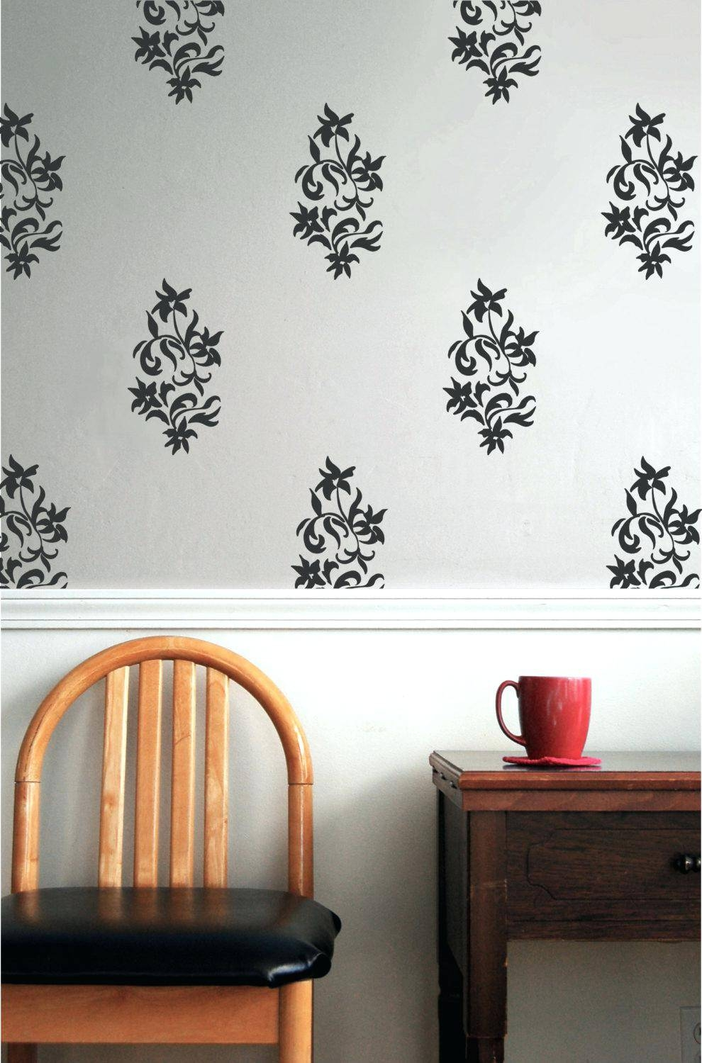 Damask Decals Wall Art Best Damask Wall Ideas On Damask Wall With Regard To Current Black And White Damask Wall Art (View 13 of 30)